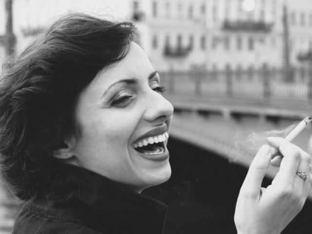 """Parisienne"". На снимке Елена Абакумов. Визаж - Ольга Андреева. Санкт-Петербург, 2011 год"