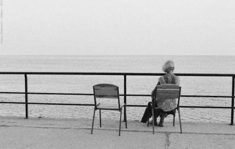 Одна на море. Гурзуф, Крым, Украина, 2013 год