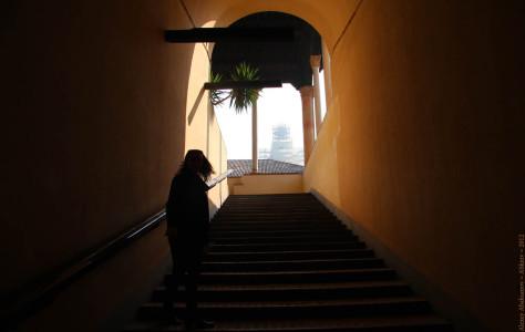 Лестница. Замок Сфорцеско, Милан, Италия, 2012 год