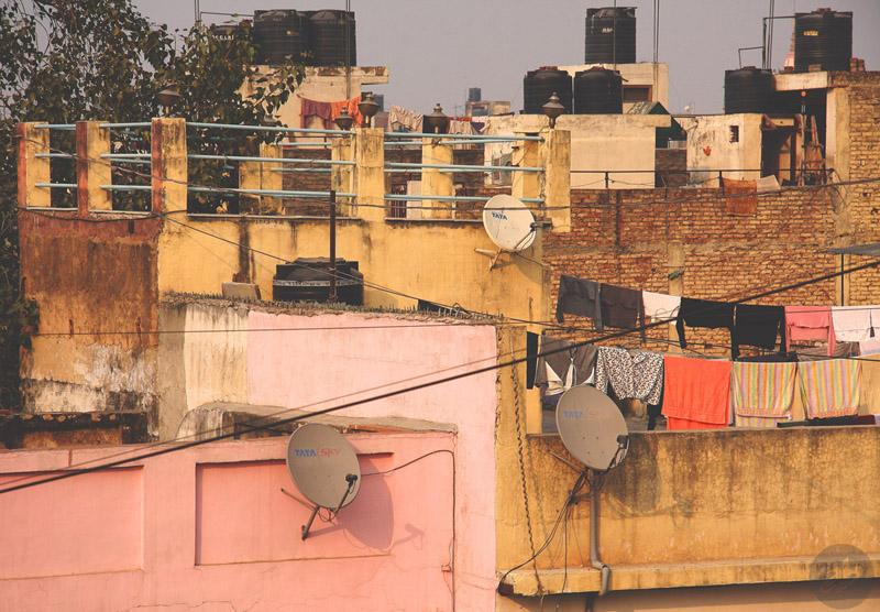 Крыши Дели (Нью-Дели, Индия, 2014). Фото Алексея Абакумова.