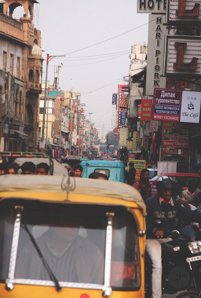 Делийский траффик (Нью-Дели, Индия, 2014). Фото Алексея Абакумова.